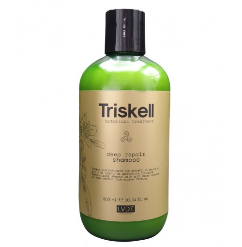 Sampon pentru Regenerare cu Acid Hialuronic Deep Repair Triskell Botanical Treatment 300 ml