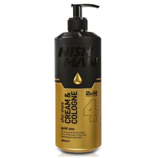 NISHMAN AFTER SHAVE CREAM GOLD 400ml